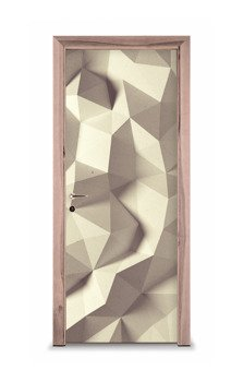 Naklejka na drzwi - Kremowe trójkąty 7523